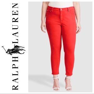Ralph Lauren Sport (Blue Label) Red Skinny Jeans D
